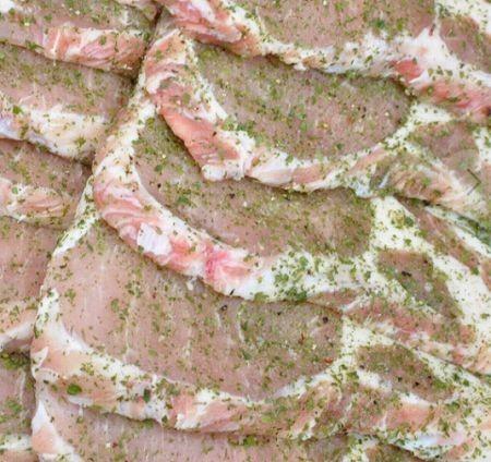 ハワイステーキ ローズポーク塩スパイス大蒜パセリ450円